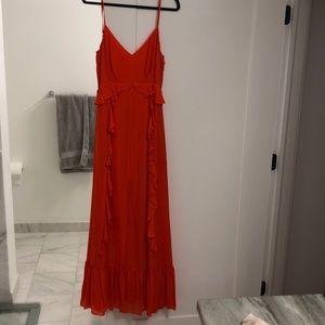 L'AGENCE silk orange evening dress! Size 6